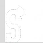 Lazy Landscape acts on a glyph