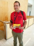 Keeping a promise: Joao delivers Brazilian chocolate for transport to Belgium